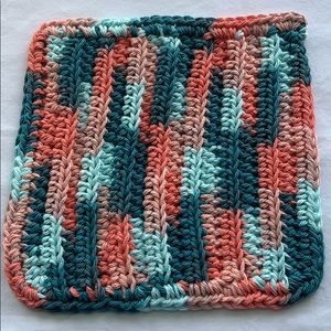 Other - Coral Seas Crocheted All Purpose 100% Cotton Cloth